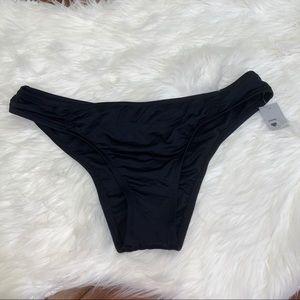 NWT Mossimo Black Cheeky Bikini Bottom Size Large